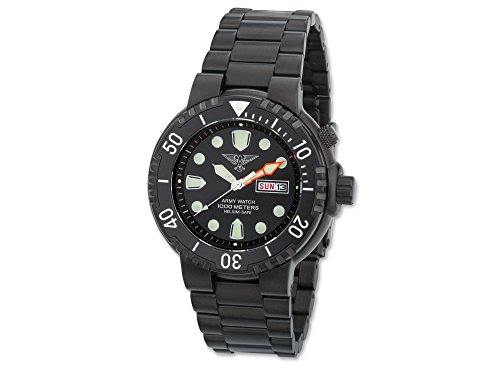 Army Watch Poseidon Black Armbanduhr Taucheruhr