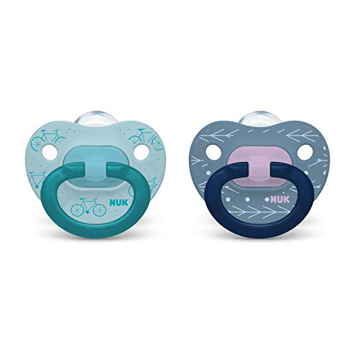 NUK Orthodontic Pacifiers, Boy, Blue, 18-36 Month (Pack of 2)