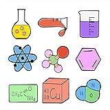 Jubaren7 Science Lab Smalto Pins Becher Chimica molecolare strutturale Periodic Table Distintivo di misurazione Tazza Personalizzata Gioielli Spilla distintivi Spilla (Color : 10)