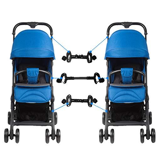 iFCOW Kinderwagen-Verbindungsstücke, universelle Kinderwagen-Verbindungsstücke, verstellbare Kinderwagen-Anschlüsse für Zwillinge