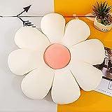 KLPHGM Flower-Shaped Throw Pillow Cushion, Plush Chair Pillows Back Cushions, Daisy Flower Cushion, Home Room Sofa Decoration Reading Cushion Pillows (White,60cm/23.6'')