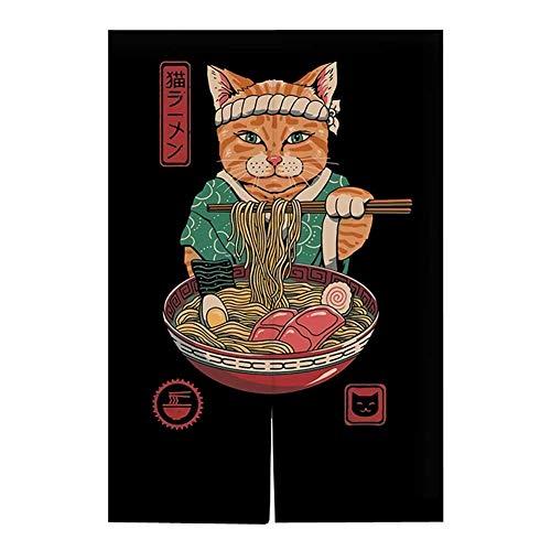Hornet Park Japanese Style Restaurant Household Kitchen Door Curtain, Ramen Sushi, 31.5 x 51.2 inches [E]