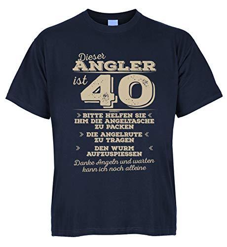 Wels Zander Carpe Shirt Fischer Ce pêcheur est 40 s'il vous plaît aider à emballer le sac de pêche - avec mini t-shirt comme cadeau. - Bleu - 52