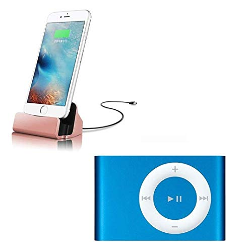 Drumstone Mini iPod Mp3 Music Player with Micro SD TF Card Slot and 8-Pin Fast Charging & Data Sync iPhone Dock Charger for iPhone 7 Plus & Oppo f5