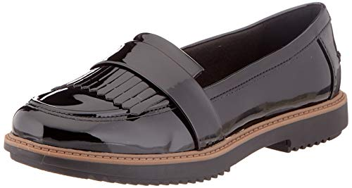 Clarks Raisie Theresa, Mocasines para Mujer, Negro Black Synthetic, 37.5 EU