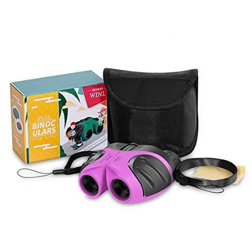 JRD&BS WINL Kinder-Spielzeug-Fernglas,4-9 Jahre altes Mädchen Hinterhof Spielzeug Mini-Fernglas,5-12 Jahre altes Mädchen Jungen Theater oder Opernhaus (Rosa)