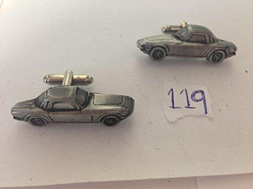 Lotus/Coupe 3D série 3 boutons de manchette Homme-Classique-Bouton de manchette en étain Effet ref119