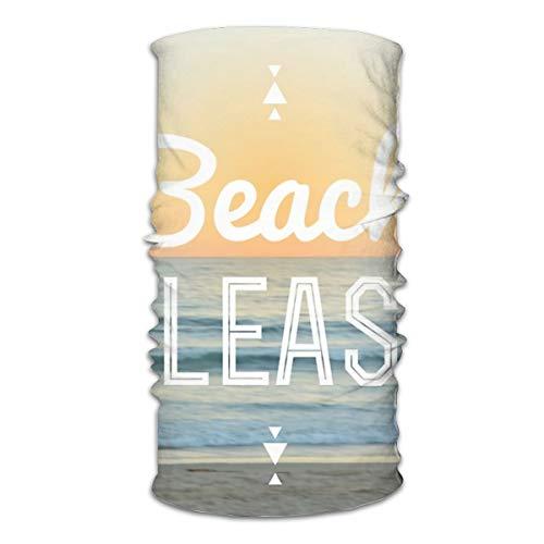 Kcouu Beach Please! Variety Head Scarf Warmer Masque visage super doux et extensible Tour de cou coupe-vent