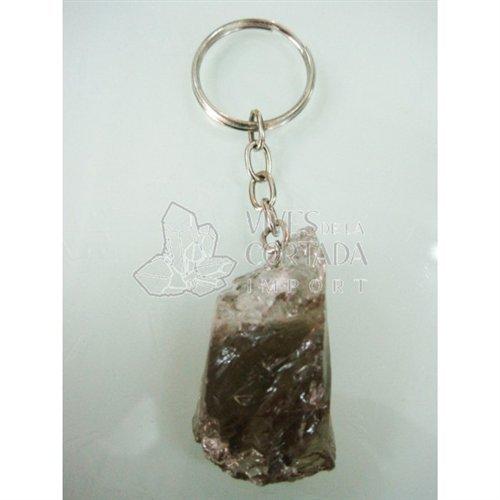 Mineral Import - Llavero de Cuarzo Ahumado en Bruto - 1202VC
