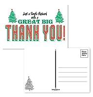 Thank You Holiday Postcards - 4 x 6 Thank You Postcards - 50 Seasonal Christmas Postcards [並行輸入品]