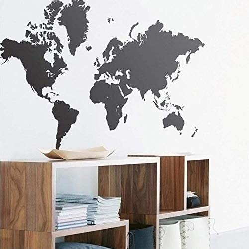 Wall Stickers,Wall Sticker World Map Art Vinyl Removable Mural Applique Home Decoration 60x105cm