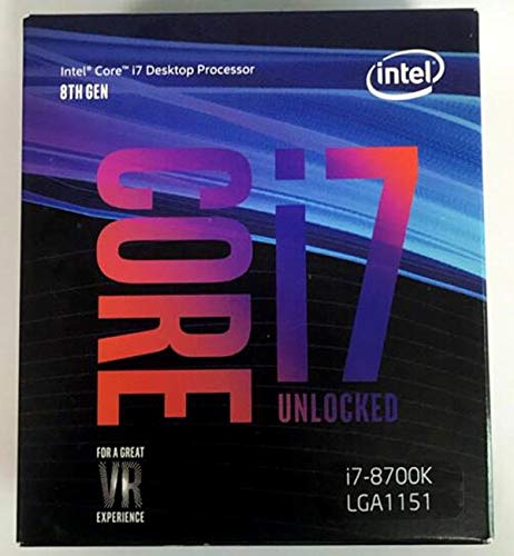 8 Series Processor I7 8700K I7-8700K Boxed Processor CPU +Fan LGA 1151-land FC-LGA 14 Six Core CPU