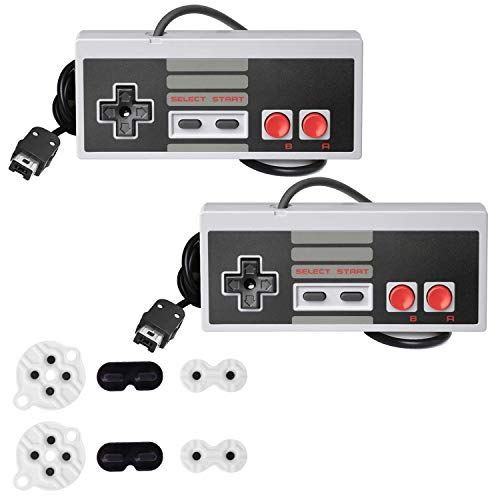 NES Classic Mini Controller for Nintendo Classic Mini Edition,KJ-KayJI HDMI 12FT Long Cable Classic Mini Controllers,with 2 Set Conductive Adhesive Pads - Wired Controller