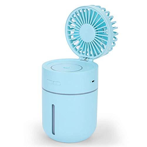 Climatizzatore Portatile Riscaldatore del ventilatore portatile Spazio di raffreddamento dell'aria, Mini USB Air Cooler Humidificatore Purificatore Luce notturna, Aria condizionata Ventilatore per la