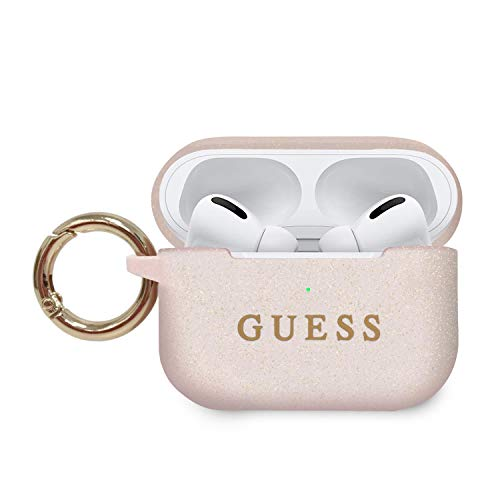 Guess Silicone Airpods Pro Cover Ring Printed Logo - pink, GUACAPSILGLLP