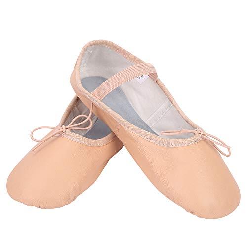 SolUptanisu 1 para balletschoenen, ademende dansschoenen, comfortabel zacht leer, balletschoenen, voor kinderen en volwassenen, dames, meisjes kinderen (maat 35-40)