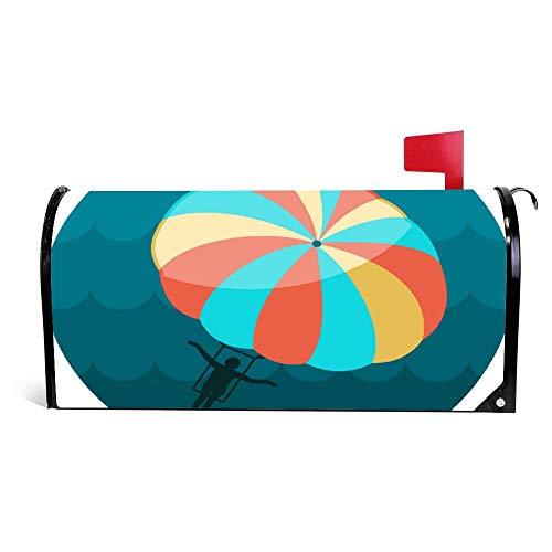 wendana Parasailing Summer Kiting Activity Icon, Urlaub, Briefkasten, Abdeckung, magnetisch, Vinyl, 45,72 x 53,3 cm