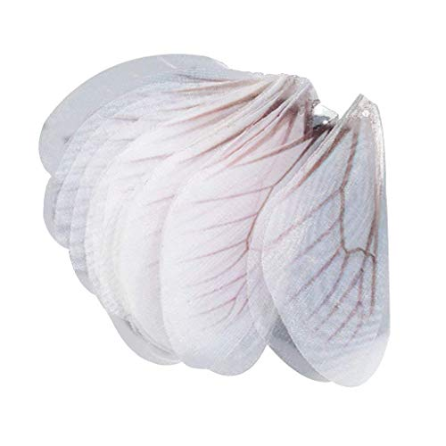 50pcs Dragonfly Wing Charms for Women Earrings Pendant Jewelry - White