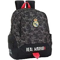 Safta Real Madrid Mochila Infantil, 43 cm, Negro