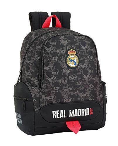 Safta Real Madrid Mochila Infantil  43 cm  Negro