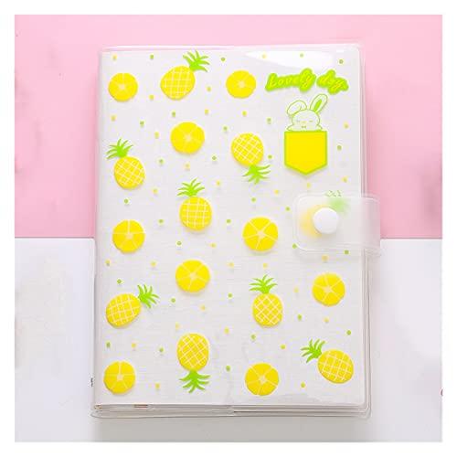 WANGYIYI Lindo Cuaderno de Estudiante Chaqueta de Libro de plástico Impermeable Libro de Mano Color ilustrado Diario de página Interior para Viajes Oficina Hogar Niñas Niños (Color : Yellow)