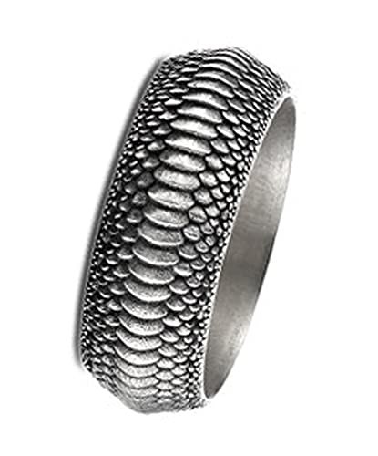 RXISHOP Anillo de plata 925 con diseño de dragón, locomotora, anillo de la suerte, para hombre, joyería de plata 18 #