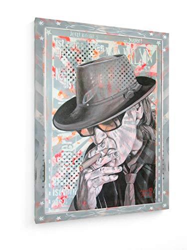 Diedel Heidemann - 80`s Icons - Mr. Lindenberg - Uns UDO - 30x40 cm - Leinwandbild auf Keilrahmen - Wand-Bild - Kunst, Gemälde, Foto, Bild auf Leinwand - Menschen