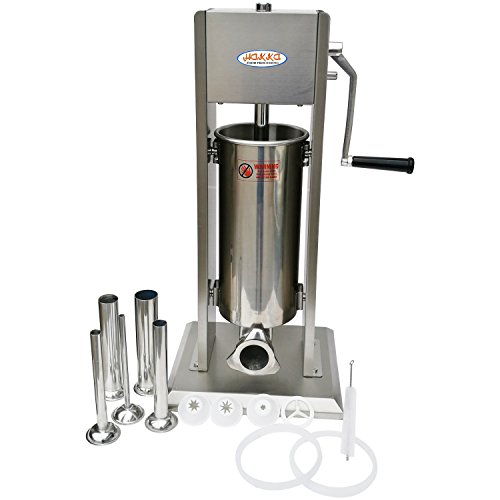 HAKKA BROTHERS SV-3-4 2 in 1 Sausage Stuffer Machines, 7LB/3L, Sliver