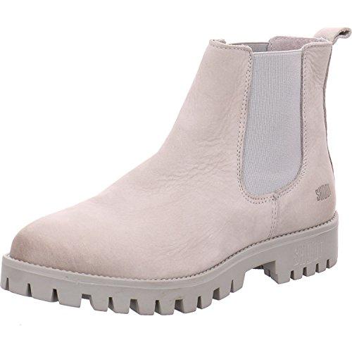 Shoot Shoes SH-215407S Damen Sommer Chelsea Stiefelette Leder, Grau (Perla), 37