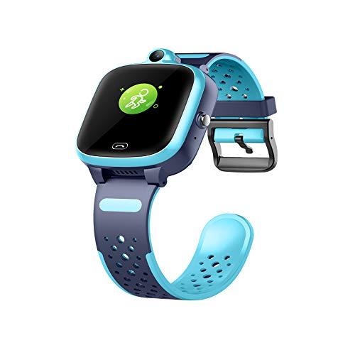 JGXRJLK Kinder-Smartwatch mit hochauflösender Touchscreen-Gaming-Smartwatch, IP67 tief wasserdicht, geeignet für Geburtstagsgeschenke, geeignet für 4-12 Jahre,Blau