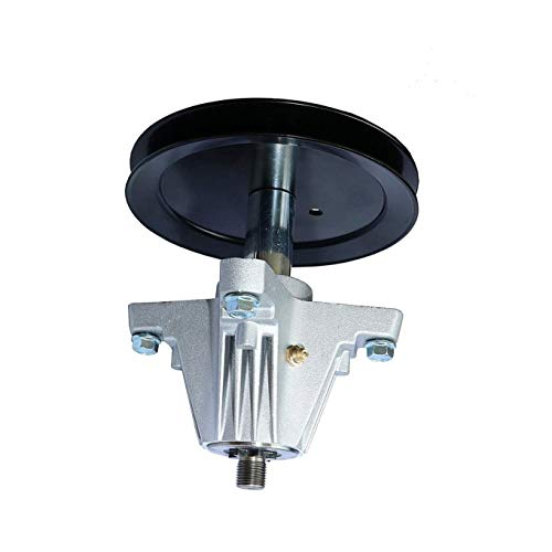 q&p 918-04865 46 inch Deck Spindle Assembly Replaces Cub Cadet MTD 918-04865A 618-04636 918-04636 618-04636A 918-04636A with Mounting Bolt 6 Point Star Shaft Pulley OD 6-1/2'