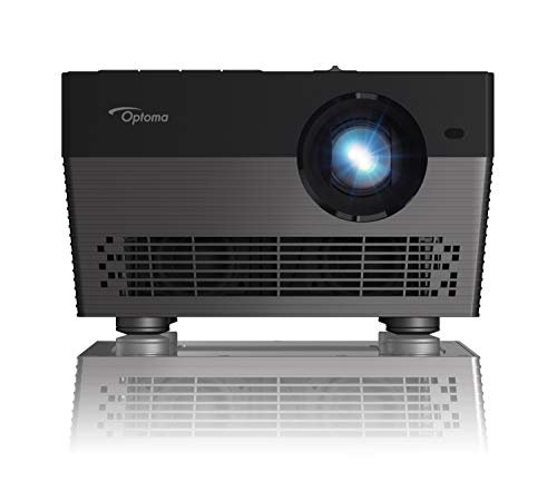 Optoma UHL55 4K LED Smart Projector with HDR, Bright 1500 lumens, Works with Alexa and Google Assistant, for Home Theaters and Outdoors, Auto Focus, Bluetooth Speaker Built in, Stream Netflix, Black