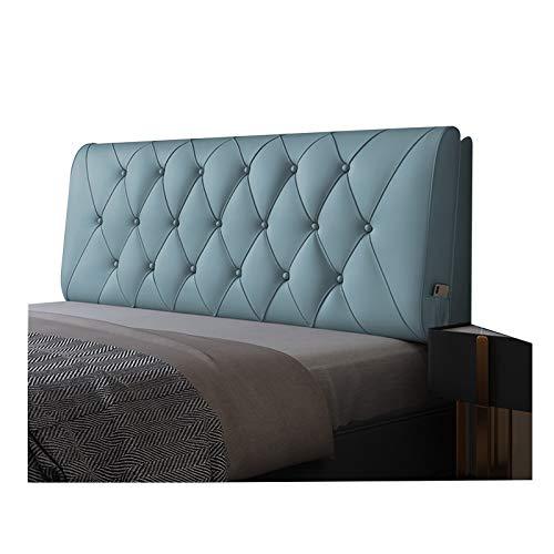 Huvudgavel säng ryggkudde läsning ryggstöd, mjuk packmidjekudde, anti-kollision förvaringsväska design, PENGFEI (Färg: Blå, Storlek: 160 cm)