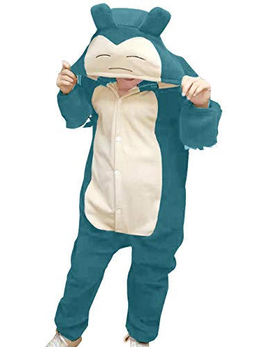 "vavalad Adult Snorlax Onesies Pajamas Cosplay Animal Homewear Sleepwear Jumpsuit Costume Women Men, L-Height 5'7""-5'10"""