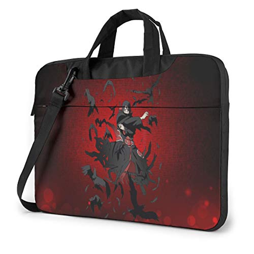 14 inch Laptop Sleeve Bag, Naruto Tablet Briefcase Ultra Portable Protective Shoulder Shockproof Laptop Canvas Cover Notebook