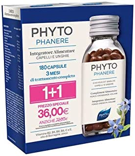 Phyto Phytophanere Food Supplement Cabello y Uñas 90 + 90 Cápsulas