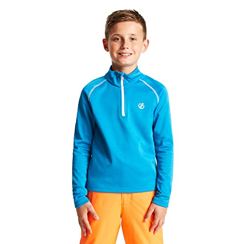 Dare 2b Kinder Consist Core Stretch Warm Rückseite Strick schnell trocknend Half Zip Fleece Langarm Fleece XL Meerblau (Atlantic)