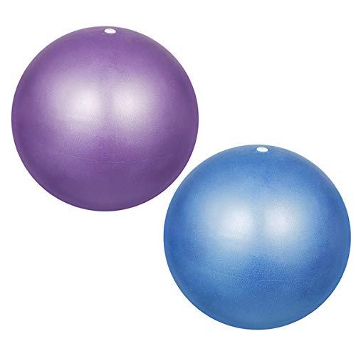 Pelota de Pilates 2 Piezas 25cm Balón de Ejercicio, Pelota de Gimnasia, Fitness Yoga Ball Anti-explosión para Fitness, Yoga, Pilates, Ejercicio