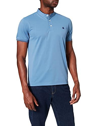 Cortefiel C15CK Polo Mao Coolmax Camisa, Azul Medio, L para Hombre