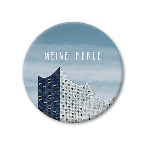 Pickmotion Design Magnete - rund 56mm - Hamburg Elbphilharmonie
