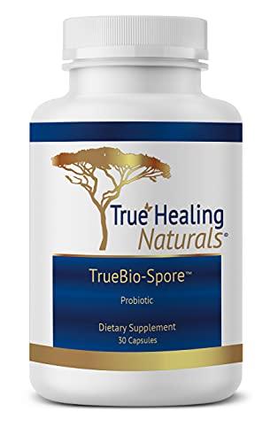 True Healing Naturals - TrueBio-Spore - Probiotic Supplement - Resilient and Powerful with 50 Billion CFU of Probiotic - 30 Capsules