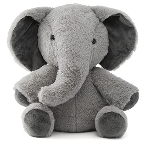 Prextex Plushlings Collection 10.5-Inch Plush Stuffed Elephant - Soft & Cozy Stuffed Plush Elephant