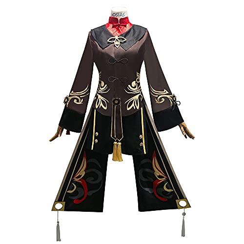 OSIAS Genshin Impact Entonces Personajes Anime Vestido Cosplay Disfraz Hutao (XXL)