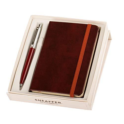 Sheaffer Burgandy Ballpoint Pen with A6 Notebook