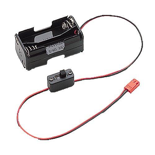 Carson 500503071-Caja de baterías con Interruptor (4 Pilas AA) para KO 8 Canales MC-8 (Modelo de construcción, Accesorios para Coche teledirigido) (26012)