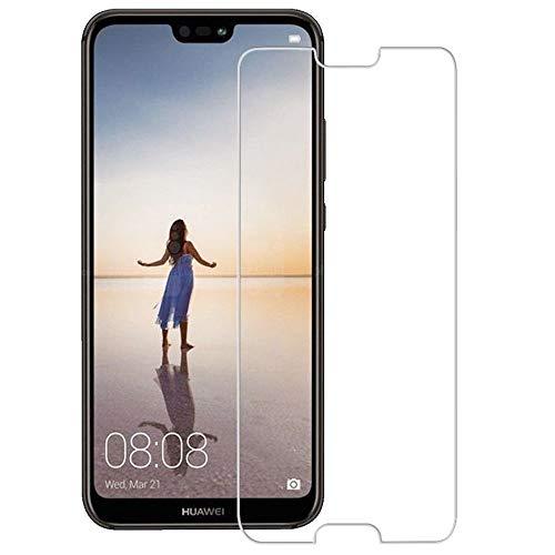 HQ-CLOUD 1 Film Vitre Verre Trempé de Protection d'écran Haute Transparence - Anti Rayures - Ultra Résistant Dureté 9H Huawei P20 Lite
