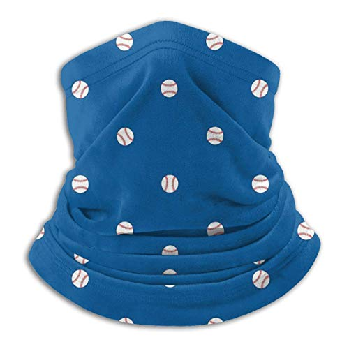 Baseballs Dodger Blue Anti Dust Mouth Cover Face Scarf Bandanas Neck Gaiter with Filter Washable Reusable