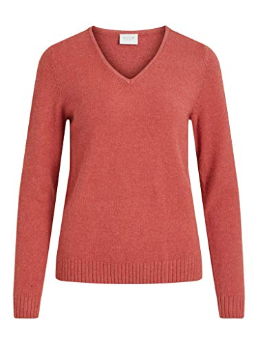 VILA dames pullover VIRIL L/S V-NECK KNIT TOP-NOOS