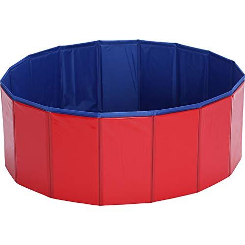 Hundepool Doggy Pool Schwimmbad Für Hunde Hündchen Swimmingpool Faltbarer Erhältlich Badewanne Pool PVC rutschfest Rot,Rot,80 * 30cm
