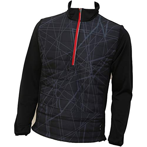 ABACUS Troon Hybrid 1/2-Zip Pullover Herren schwarz M